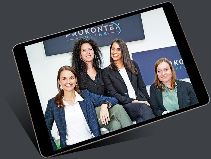 Foto von einer Gruppe Onlien Experten – dargestellt auf einem iPad